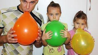 Учим Цвета на Английском языке с малышами, надуваем Воздушные шарики. Видео для детей