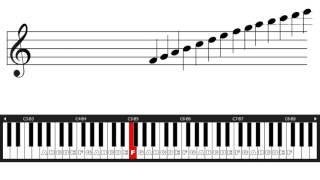 belajar not balok 2 kunci g dan f posisi di tuts piano