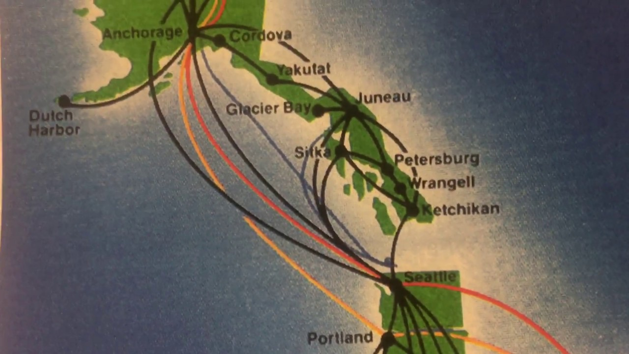 Alaska Airlines: A Brief History In Route Maps - YouTube