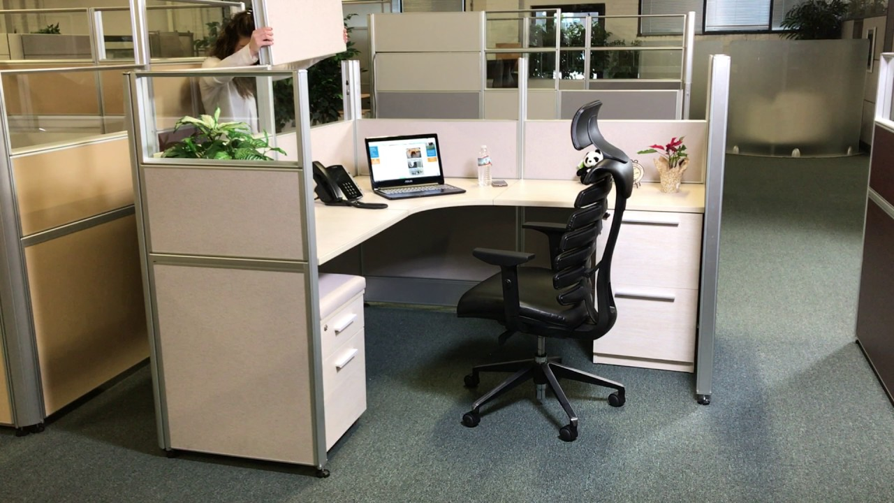 marvelous cubicles office furniture | Sunline Office Cubicles Instant Privacy - YouTube