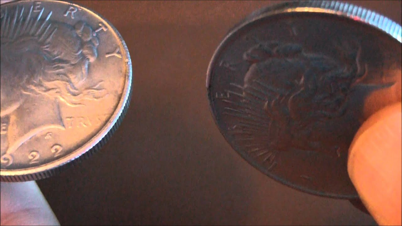 Another Counterfeit 1922 Peace Silver Dollar Youtube