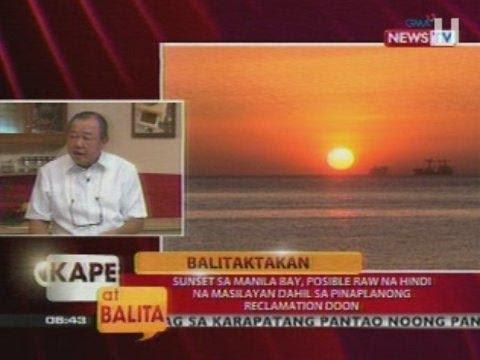 Sunset sa Manila Bay, posible raw na hindi na masilayan dahil sa pinaplanong reclamation doon