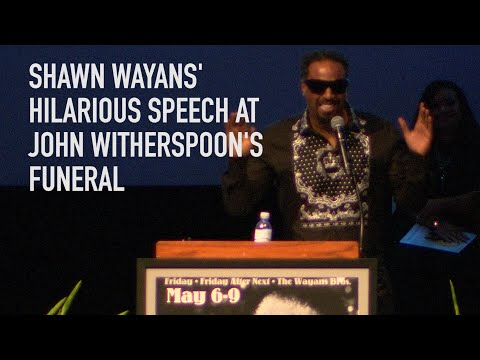 DJ MoonDawg - Shawn Wayans gives a hilarious speech at John Witherspoons funeral