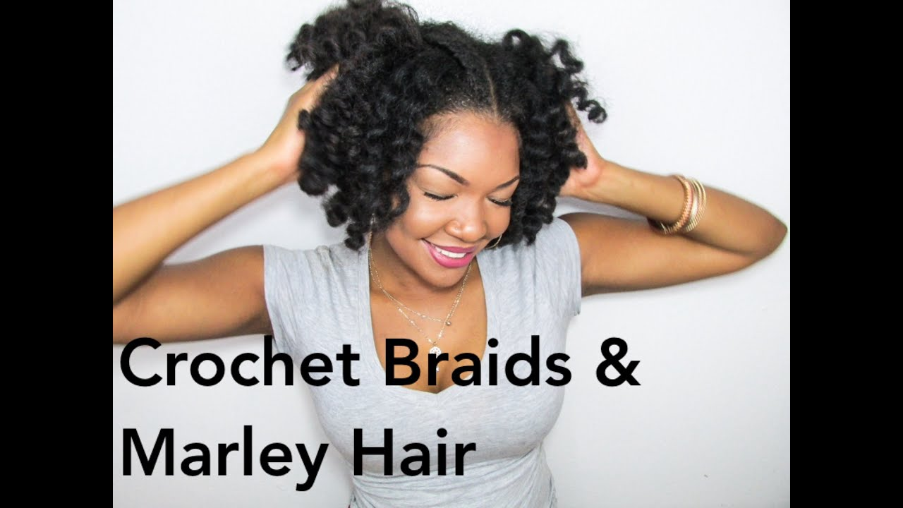 Rastafri Crochet Hair : Crochet Braids using Marley Hair - YouTube