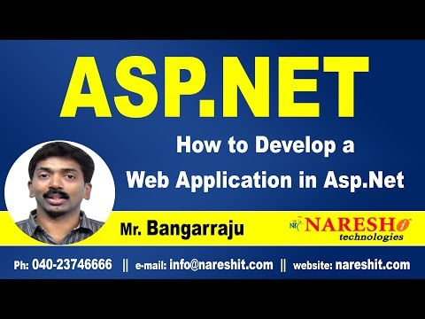 How to Develop a Web Application in ASP.NET | ASP.NET Tutorials | Mr.Bangar Raju