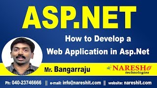 How to Develop a Web Application in ASP.NET   ASP.NET Tutorials   Mr.Bangar Raju