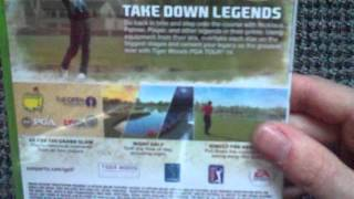 Tiger Woods PGA Tour 14 (Xbox 360) Unboxing