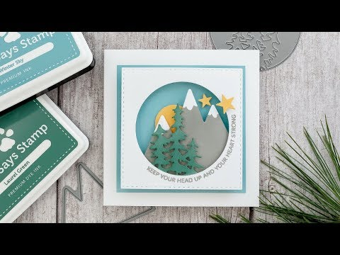 Creating A Shadow Box Card From Die Cuts