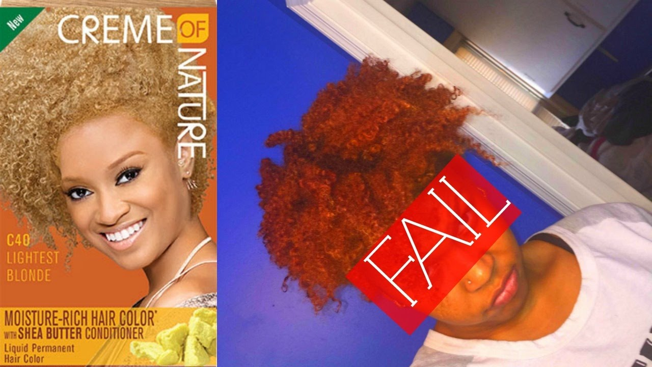 ORANGE HAIR Creme Of Nature Lightest Blonde YouTube