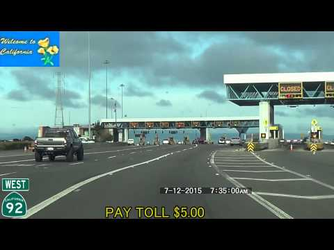 Oakland CA to San Francisco CA(San Meteo-Hayward Bridge)2015 HD