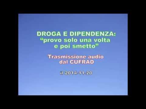 """DROGA E DIPENDENZA: """"provo solo una volta e poi smetto"""". Trasmissione radio del 20 novembre 2014."""
