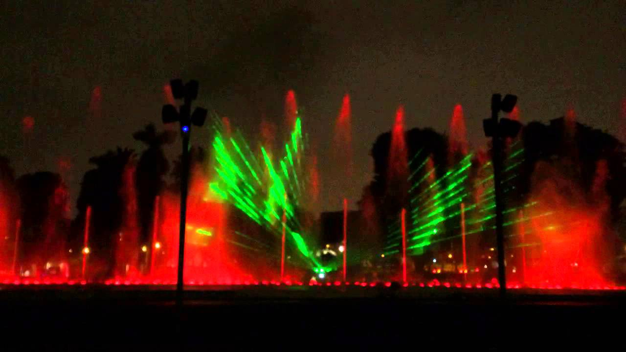 Water fountains lima - Water And Light Show In Lima Peru 4