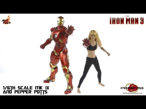 Hot Toys Iron Man 3 Pepper Potts and MK IX Video Review