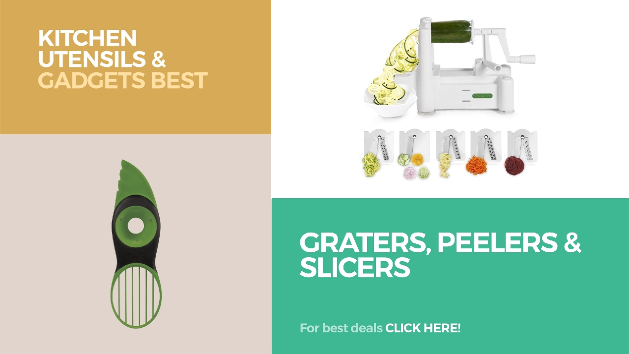 Graters, Peelers & Slicers // Kitchen Utensils & Gadgets Best ...