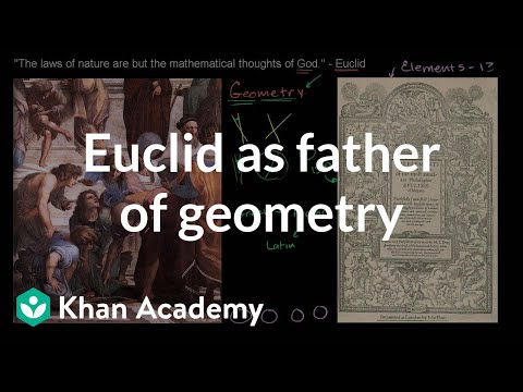Euclid as the father of geometry | Introduction to Euclidean geometry | Geometry | Khan Academy