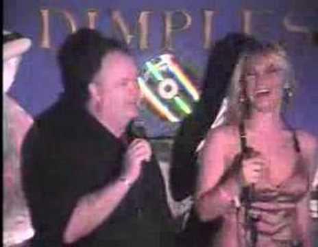 Dennis Haskins and Brooke Hogan sing Karaoke