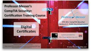 Digital Certificates - CompTIA Security+ SY0-301: 6.3