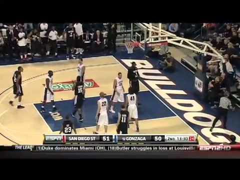 NCAA Basketball SDSU Aztecs vs. #11 Gonzaga 2010