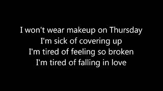 Jess Glynne - Thursday LYRICS Video