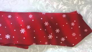 Neck Tie 100% silk Holidays Novelty Holiday MMG Red snowflake Silk music works