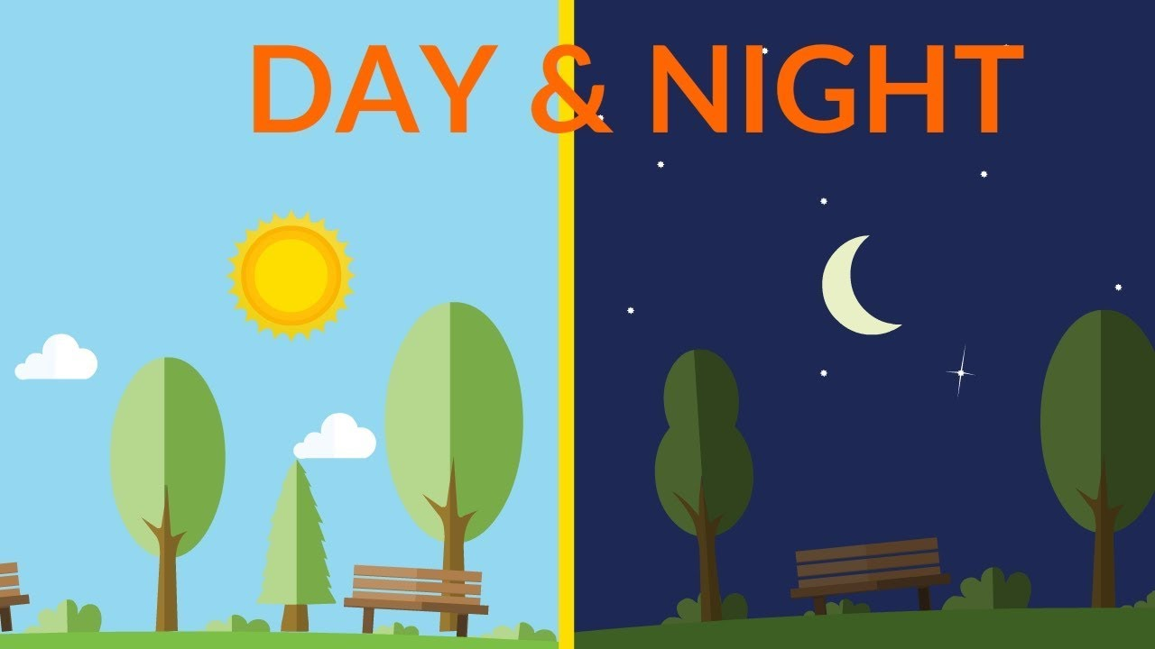 Night And Day Day And Night || Video For Kids - Youtube