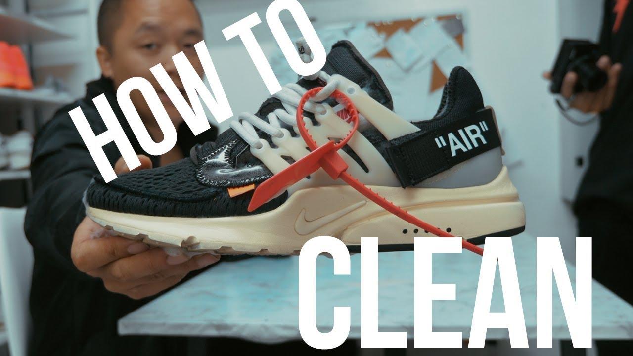 HOW TO CLEAN OFF WHITE PRESTO! - YouTube