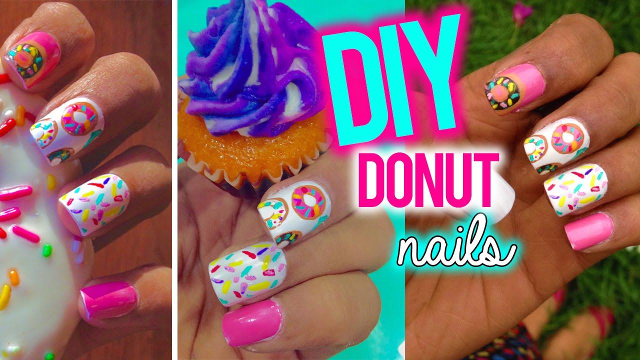 diy donut nail art larissa