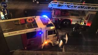 экстремальное эксклюзивное видео с пожара в центре Москвы