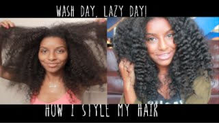 How To Style Hair After Wash Day | Natural Hair