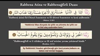Rabbena Atina ve Rabbenağfirli Duası Dinle ve Oku