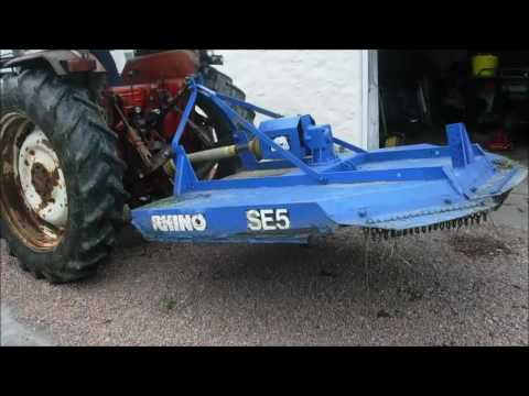 RHINO SE5 TOPPER MOWER FULLY WORKING SEE VIDEO SOLD BY  www catlowdycarriages com
