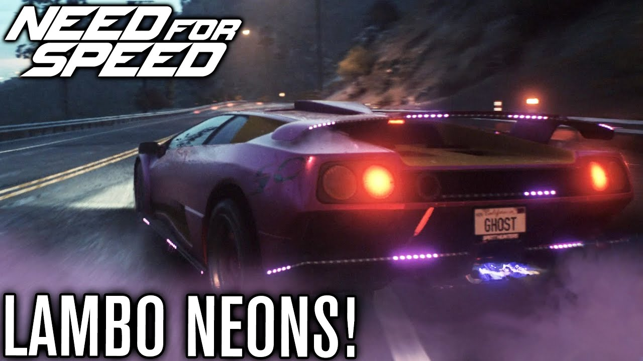 Lamborghini Diablo Neons Need For Speed 2015 Gameplay Morohoshi