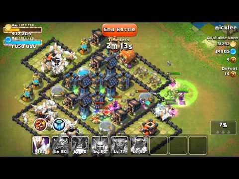 Castle Clash Raid Strategy 02: Destroying BEEFY Bases - Dirty Distaggio