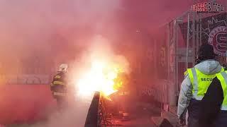 CZ: Slavia Prague - Sparta Prague [Derby, pyro]. 2019-04-14