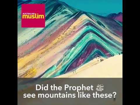 Rainbow colored mountain