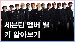 세븐틴 멤버 별 키 알아보기(2021년 1월 현재)