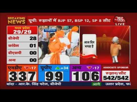 Election Results 2019 LIVE | Gujarat में BJP हेडक्वार्टर के बहार शुरू जश्न !