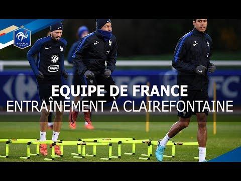 Equipe de France : Dernier entrainement à Clairefontaine, reportage I FFF 2017