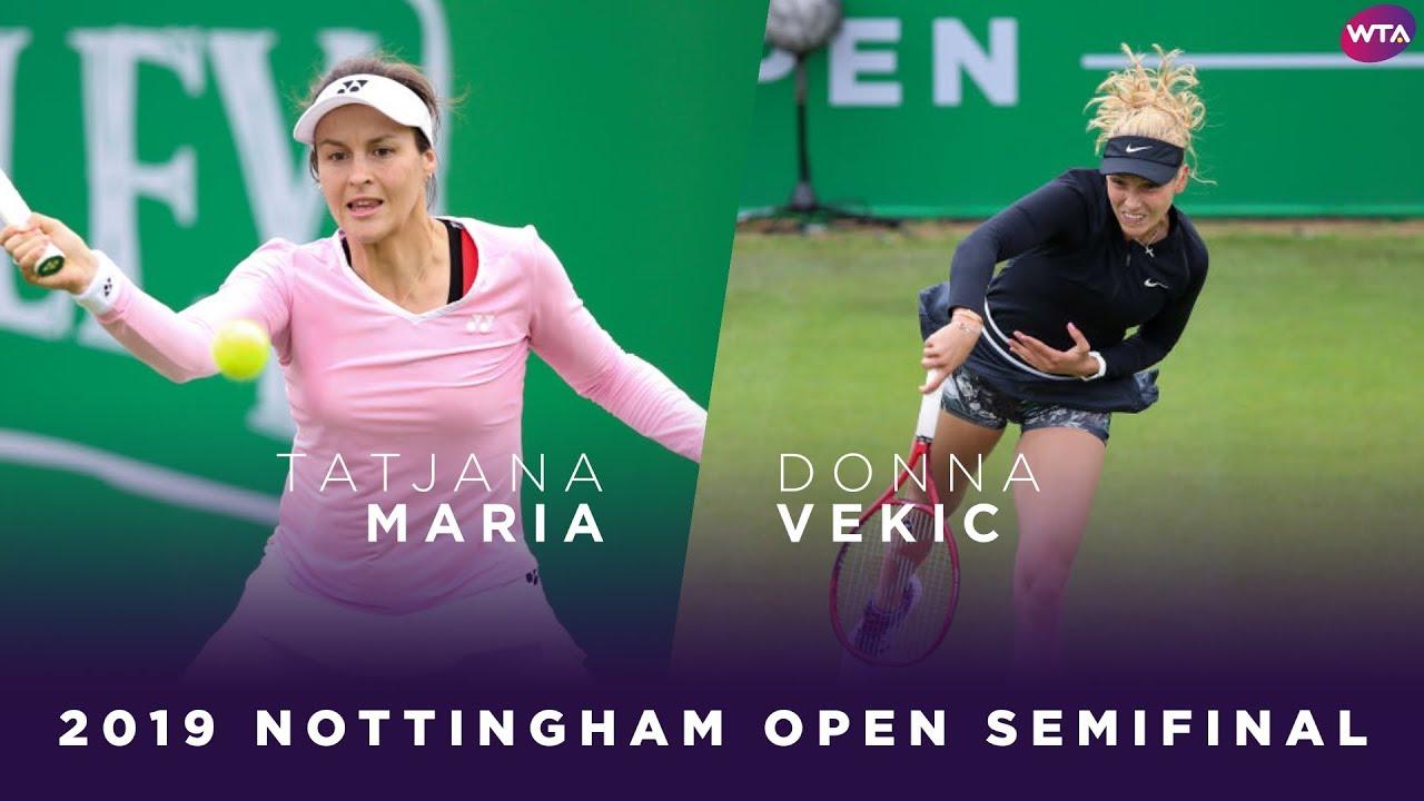 Tatjana Maria vs. Donna Vekic   2019 Nottingham Open Semifinal   WTA Highlights
