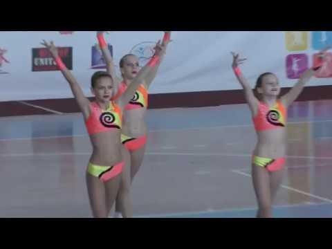 детская спортивная аэробика трио - Aerobic Gymnastics Челябинск
