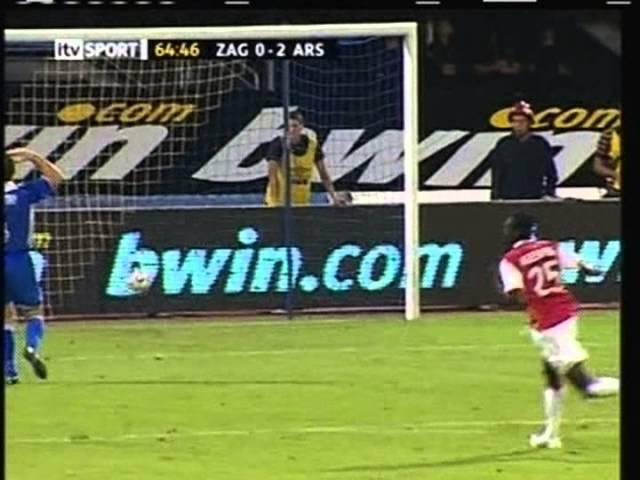 2006 (August 9) Dinamo Zagreb (Croatia) 0-Arsenal (England) 3 (Champions League)