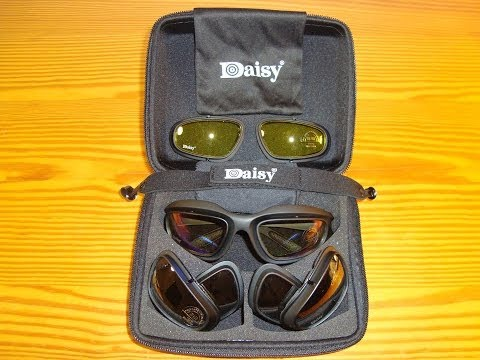 Unboxing Daisy C5 USA Military Tactical Goggles Sun Glasses,Desert Storm,Riding,Airsoft (AliExpress)