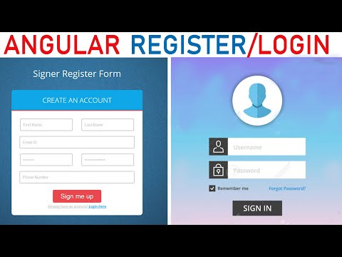 Part 2 Angular 8 ( Add  User ) PHP MySql CRUD |  Login  Register(2019) . Angular 8 Login Register