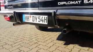 Opel Diplomat 5,4 V8 erster Start nach 3 Jahren