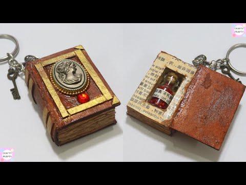 DIY: Mini Book for Bottle Charms/Miniature Spell Books Tutorial | DIY Mini Notebook /mini spell book thumbnail