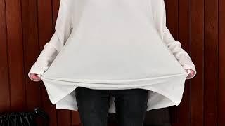 데일리앤 루멘 루즈핏 라운드 무지 롱 티셔츠