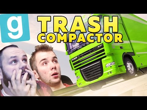 CIĘŻARÓWKA LECI!   Garry's mod (With: EKIPA) #474 - Trash Compactor [#7] #Bladii #Po Polsku #PL