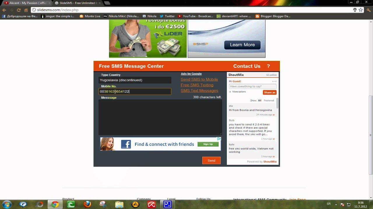 Šaljite besplatne sms poruke - YouTube