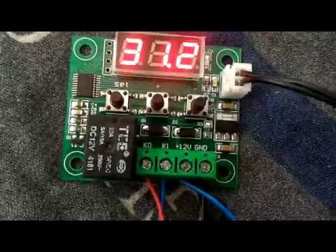 Подключение и настройка: цифровой (программируемый) терморегулятор - термостат w1209