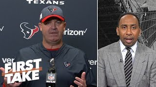 Stephen A. reacts to Bill O'Brien's outburst on the rigors of being Texans' coach | First Take